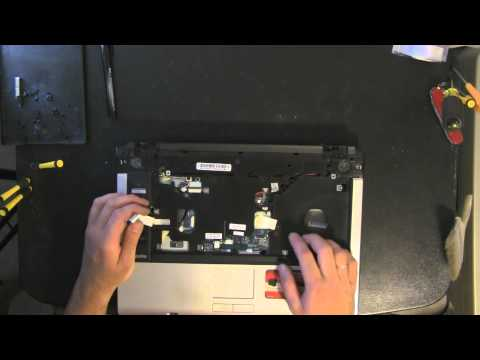TOSHIBA Satellite A135 laptop take apart video. disassemble. how to open disassembly
