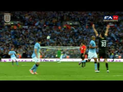 Exclusive Pitchside highlights Wigan vs Manchester City 1-0, FA Cup Final 2013