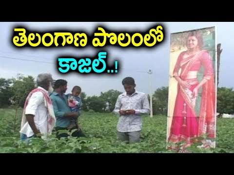 పొలానికి దిష్టి తగలకుండా ఈ రైతు ఏం చేసాడంటే..? | Heroine Kajal Aggarwal Cut Out In Farm | Sumantv