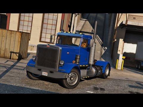 Grand Theft Auto 5 - Peterbilt 289 Diesel/Semi Truck Mod! - Review - GTA 5