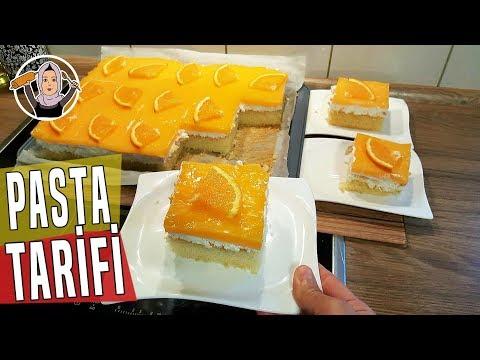 Portakallı Pudingli Pasta Tarifi Videosu - Pasta Tarifleri