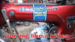 pt 3 of will it Run ? worn out Honda Trail 70