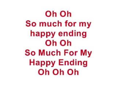 My Happy Ending - Avril Lavigne (lyrics) video