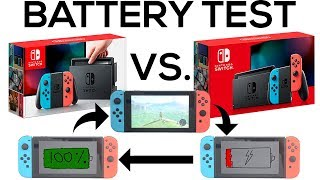Battery Life and Charging Time of NEW Nintendo Switch V2 versus OLD V1 Switch