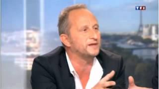 Benoît Poelvoorde ivre au journal télévisé de TF1 du 30/06/2013