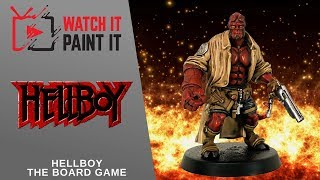 Hellboy the Board Game - Painting Hellboy