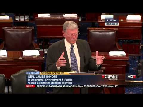 Bernie Sanders and Jim Inhofe Debate Climate Change (7/30/2012)