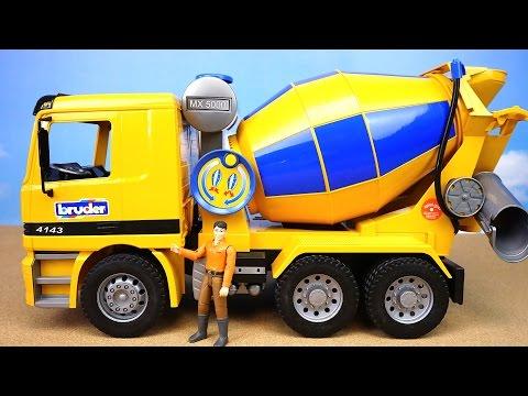 BRUDER. Большая бетономешалка Mercedes-Benz. Игрушечные машинки для детей. Bruder Toys. 01665