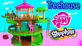 Lil Woodzeez Family Treehouse Playset My Little Pony Frozen Littlest Pet Shop Hangout Toy Unboxing