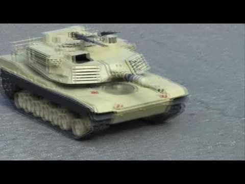 Abrams RC Tank 1:9 big scale gasoline engine