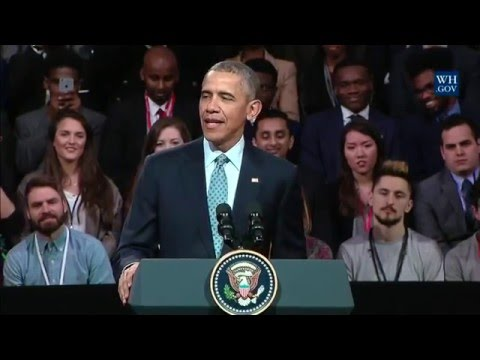 President Obama Holds a Town Hall