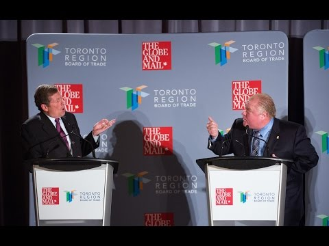 Toronto 2014 mayoral debate with Rob Ford, John Tory, Olivia Chow and David Soknacki