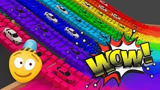 Colours for Children to Learn with Super Car   Street Vehicles Cartoons   Learning Videos