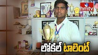 మ్యాచ్ లో ట్రిపుల్ సెంచరీ బాదిన గణేశ్ | Special Focus On Mahabubnagar Young Cricketer | hmtv