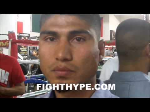 MIKEY GARCIA BREAKS DOWN MAYWEATHER VS MAIDANA AT FLOYD MAYWEATHERS MEDIA WORKOUT