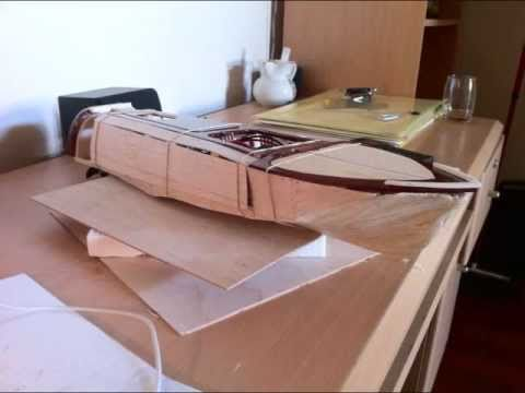 homemade balsa wood rc boat build - YouTube