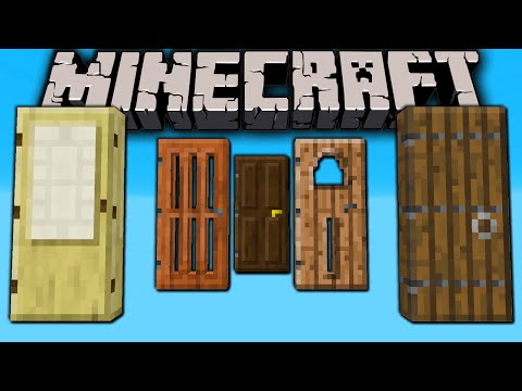 Minecraft 1.8 Snapshot: New Doors Medieval Japanese Modern Slime Block Sound Armor Stand Styles