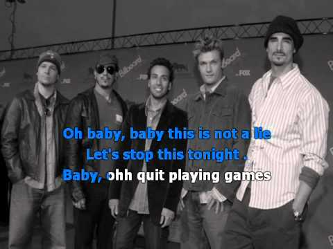 backstreet boys quit playing games with my heart karaoke. Black Bedroom Furniture Sets. Home Design Ideas