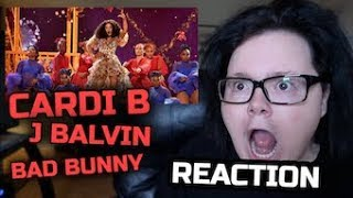 Cardi B, Bad Bunny, & J Balvin I Like It - Live at the American Music Awards | Reaction
