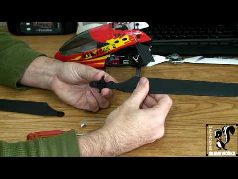ESky Honey Bee FP HBFP V2 - Swapping Main Rotor Blades