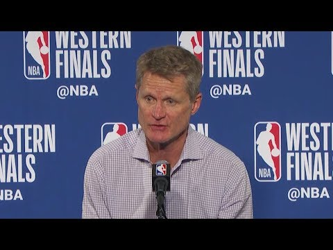 Steve Kerr Postgame Interview - Game 3 | Rockets vs Warriors | May 20, 2018 | 2018 NBA West Finals