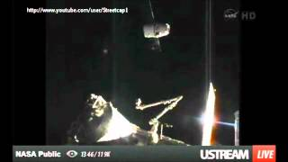 NASA keep on filming as Ufo observes Space X docking.