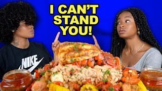 KING CRAB + LOBSTER SEAFOOD BOIL MUKBANG + THINGS WE CAN'T STAND ABOUT EACH OTHER