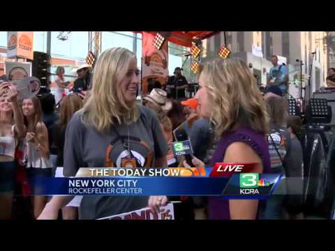 KCRA's Deirdre Fitzpatrick at the Today Show in New York City