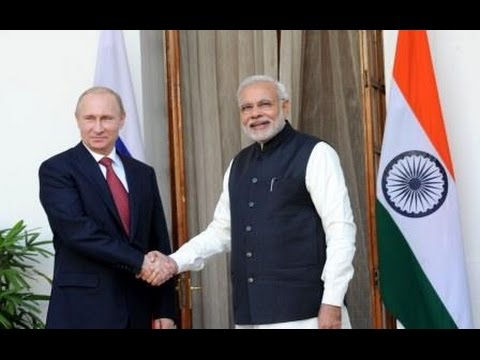 PM Modi with Russian President Vladimir Putin at Hyderabad House