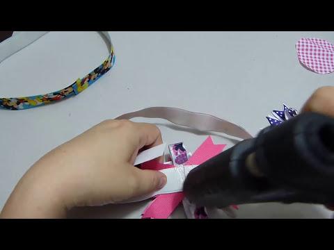 Manualidades y accesorios la hormiga. paso a paso de moños en cinta video 162