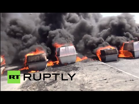 Fire, smoke in Bahrain as protests flare against Yemen airstrikes