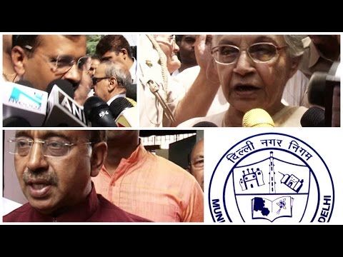 MCD Polls 2017: Arvind Kejriwal, Sheila Dixit and Vijay Goel cast vote
