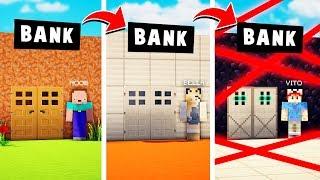 OD BANKU NOOB DO BANKU PRO W MINECRAFT! 💎😂 CZY UDA NAM SIĘ OBRABOWAĆ BANK!? | Vito vs Bella