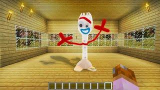 Aparece Forky (Toy Story 4) en mi casa del Pueblo Almendruqui en Minecraft