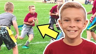FLAG FOOTBALL! Tayden's FIRST Football Game After Spraining Ankle