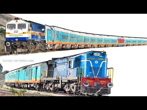 ALCo Vs EMD   Colorfu Humsafar Express   Indian Railways thumbnail