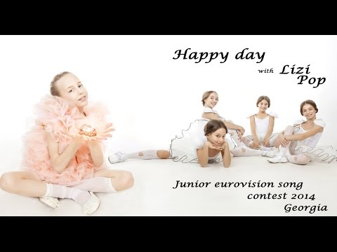 Jesc 2014. Georgia. Lizi Pop - Happy Day. Official Video video
