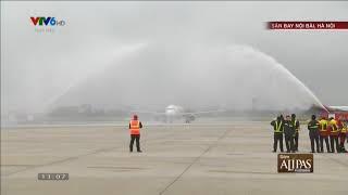 Khoảnh khắc 2 ''vòi rồng'' bắn lên trời chào đón U23 Việt Nam