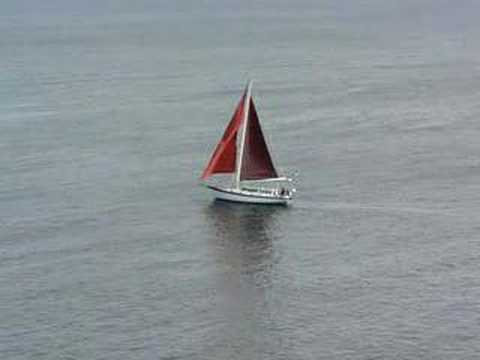 Red Sails off Coast of Monhegan Island