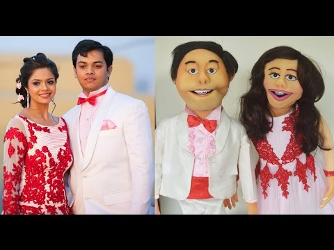 Anchored and Performed at a Sangeet Event with Customized Puppets