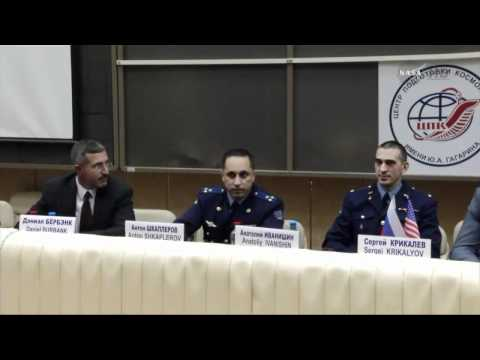 Expedition 2930 - Crew News Conference at Star City Russia