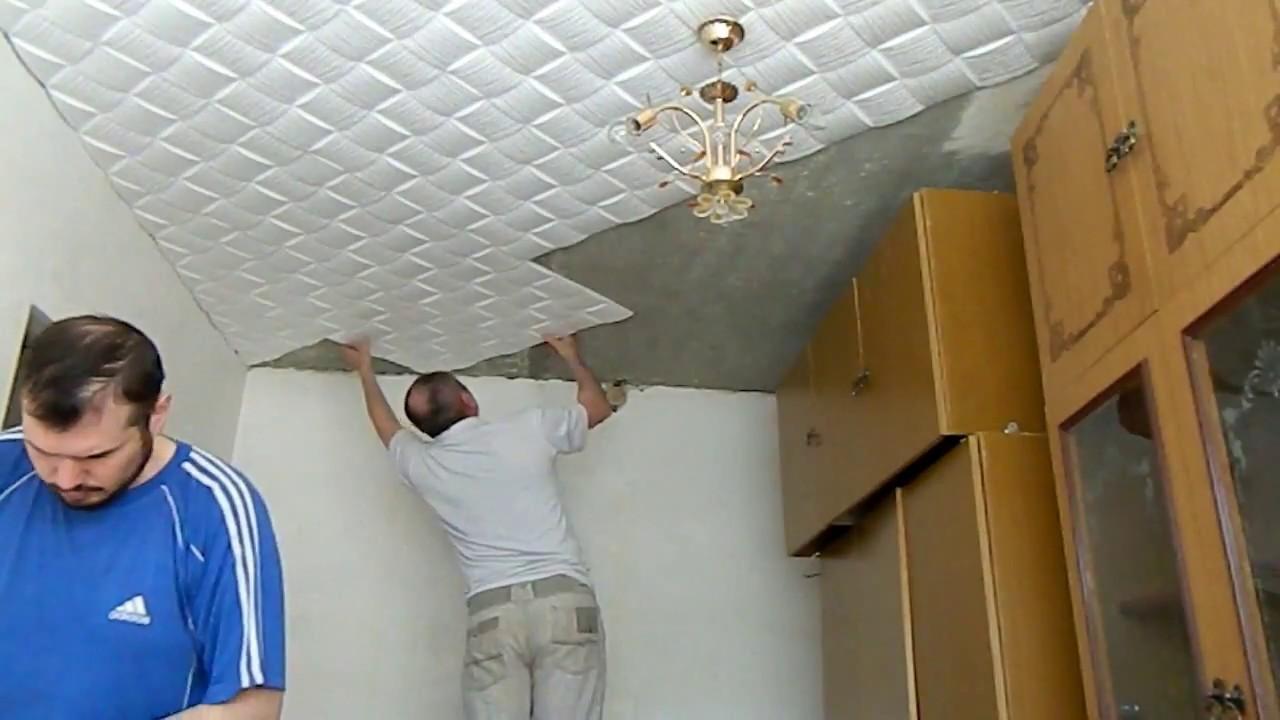 Чем клеить потолочную плитку своими руками 69