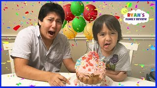 Daddy's Surprise Birthday Disaster with Ryan's Family Review!
