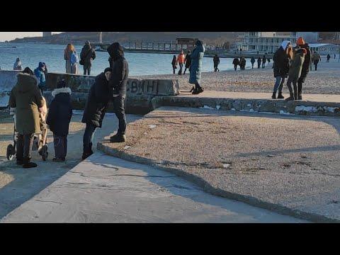 Пляж Ланжерон Одесса. 24.02.2019