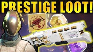 Destiny 2: PRESTIGE RAID LOOT DROPS! Legend of Acrius, New Armor!