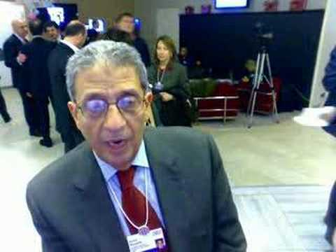 Amr Moussa responds to Shimon Peres