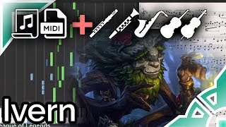 Ivern login theme - League of Legends (Synthesia Piano Tutorial)