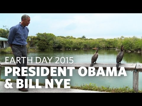 President Obama & Bill Nye Talk Earth Day in the Everglades