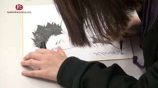 Watch Yoshitoki Oima drawing A Silent Voice characters! (and win this autograph!)