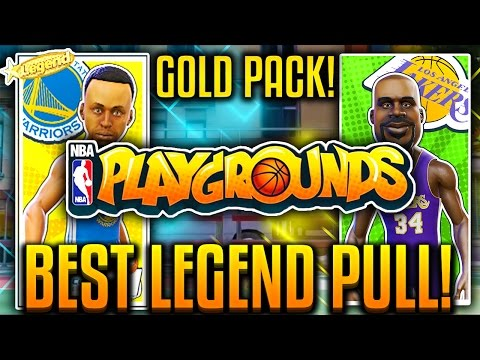NBA PLAYGROUNDS EP 3! BEST LEGEND PULL! CHEESIEST CARD! FIRST GOLD PACK!